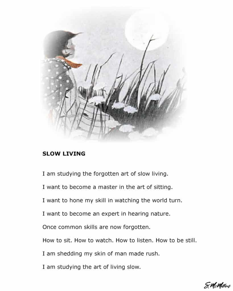 slow living red thread poetry by susanne McMillan